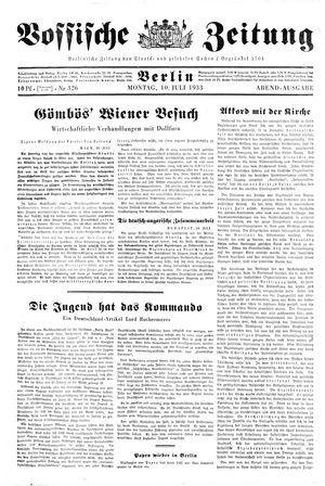 Vossische Zeitung vom 10.07.1933