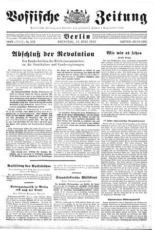 Vossische Zeitung vom 11.07.1933