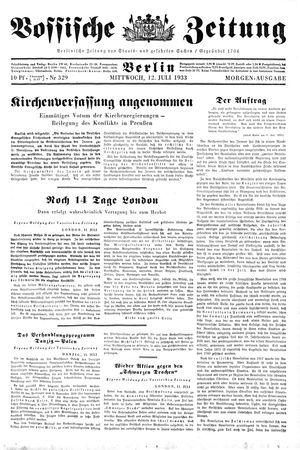 Vossische Zeitung vom 12.07.1933