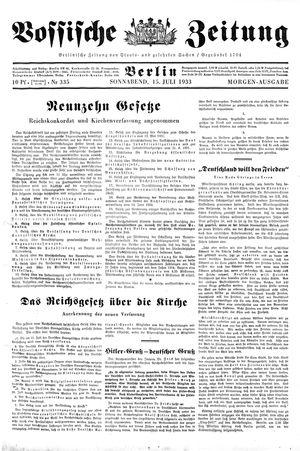 Vossische Zeitung vom 15.07.1933