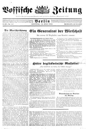 Vossische Zeitung vom 16.07.1933