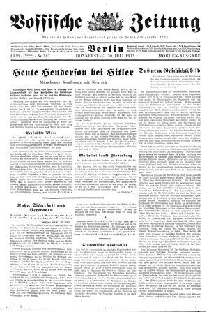 Vossische Zeitung vom 20.07.1933