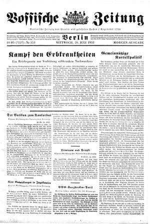 Vossische Zeitung vom 26.07.1933
