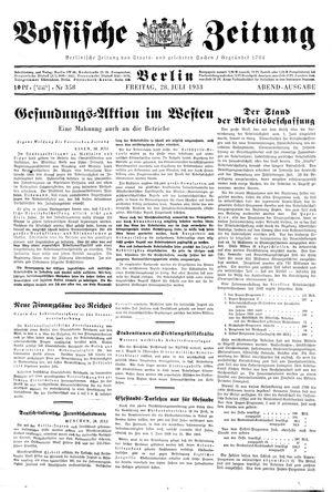 Vossische Zeitung vom 28.07.1933