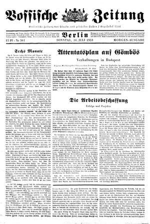 Vossische Zeitung vom 30.07.1933