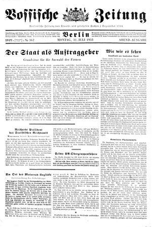 Vossische Zeitung vom 31.07.1933