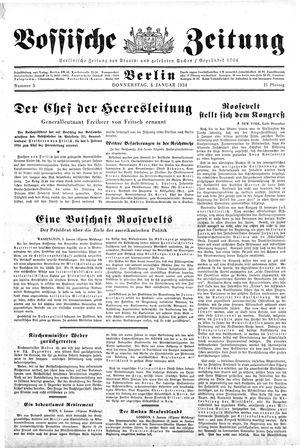 Vossische Zeitung vom 04.01.1934