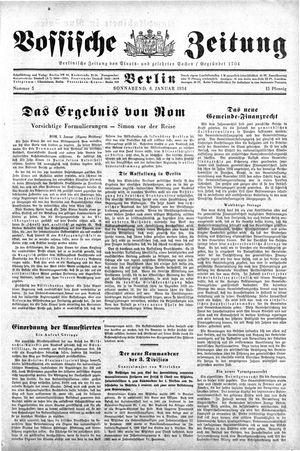 Vossische Zeitung on Jan 6, 1934