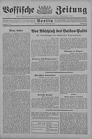 Vossische Zeitung on Jan 7, 1934