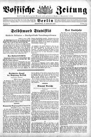 Vossische Zeitung vom 09.01.1934