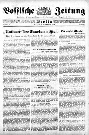 Vossische Zeitung vom 10.01.1934