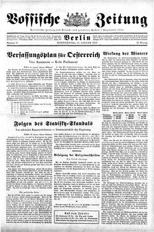 Vossische Zeitung on Jan 11, 1934