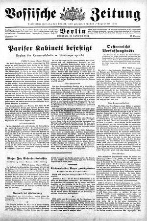 Vossische Zeitung vom 12.01.1934