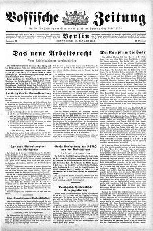 Vossische Zeitung on Jan 13, 1934