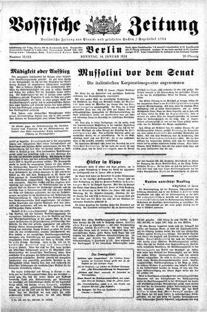 Vossische Zeitung vom 14.01.1934