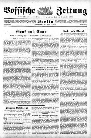 Vossische Zeitung vom 16.01.1934