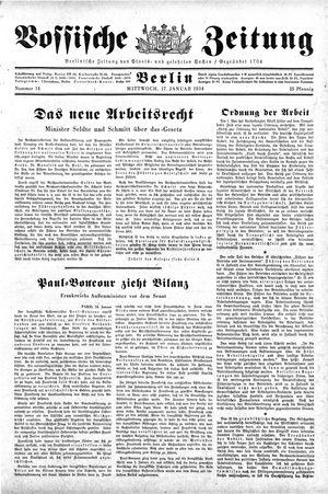 Vossische Zeitung vom 17.01.1934