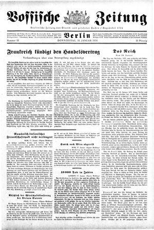 Vossische Zeitung vom 18.01.1934