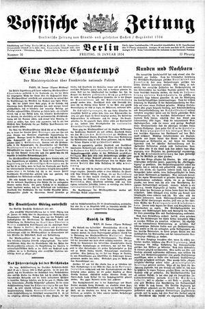 Vossische Zeitung on Jan 19, 1934