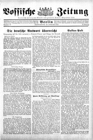 Vossische Zeitung vom 20.01.1934
