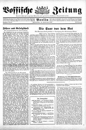Vossische Zeitung vom 21.01.1934
