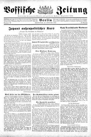 Vossische Zeitung vom 23.01.1934