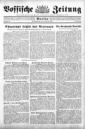 Vossische Zeitung vom 24.01.1934