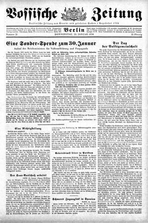 Vossische Zeitung vom 25.01.1934
