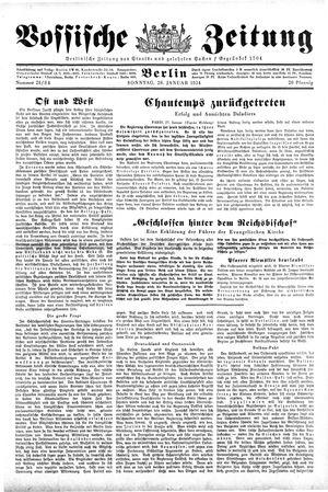 Vossische Zeitung vom 28.01.1934