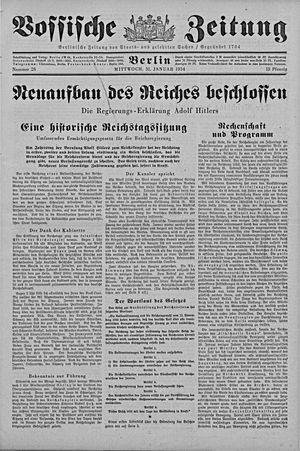 Vossische Zeitung vom 31.01.1934