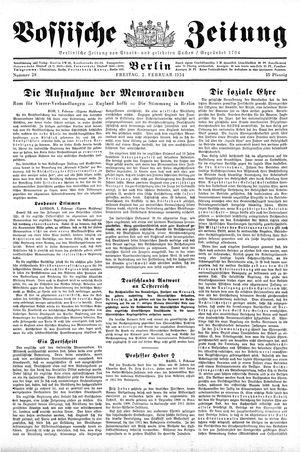 Vossische Zeitung vom 02.02.1934