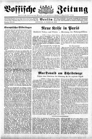 Vossische Zeitung vom 04.02.1934