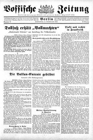 Vossische Zeitung vom 06.02.1934