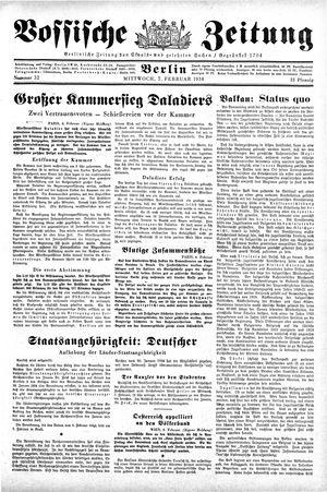 Vossische Zeitung vom 07.02.1934