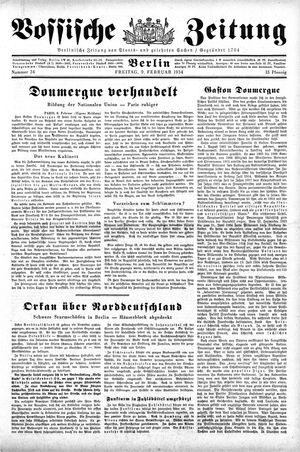 Vossische Zeitung on Feb 9, 1934