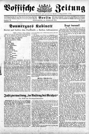 Vossische Zeitung vom 10.02.1934