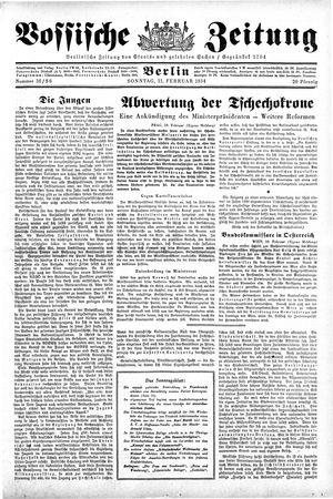 Vossische Zeitung vom 11.02.1934