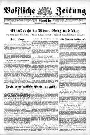 Vossische Zeitung vom 13.02.1934