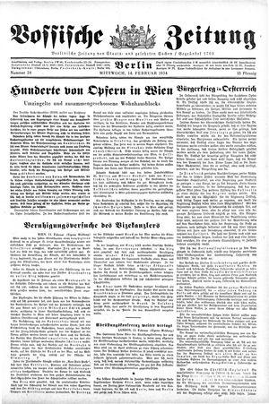 Vossische Zeitung vom 14.02.1934
