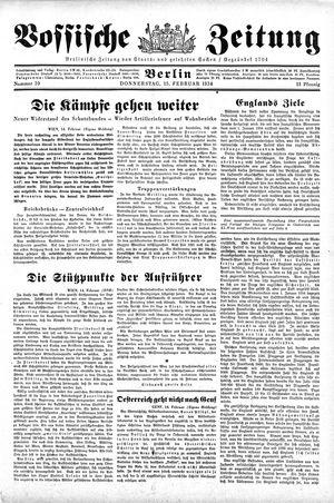 Vossische Zeitung vom 15.02.1934