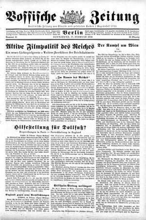 Vossische Zeitung vom 17.02.1934
