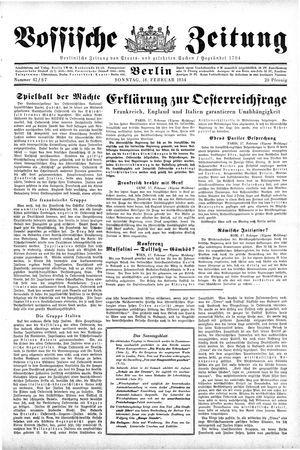 Vossische Zeitung vom 18.02.1934