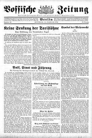 Vossische Zeitung on Feb 21, 1934