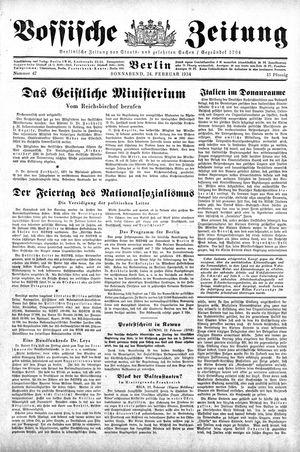 Vossische Zeitung vom 24.02.1934