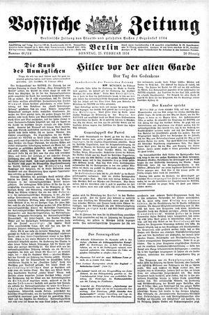 Vossische Zeitung vom 25.02.1934