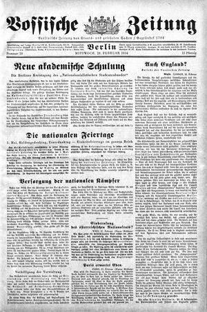Vossische Zeitung vom 28.02.1934