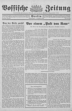 Vossische Zeitung on Mar 4, 1934