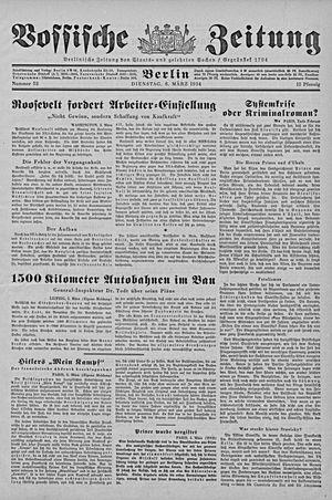 Vossische Zeitung on Mar 6, 1934