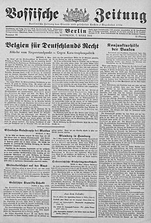 Vossische Zeitung on Mar 7, 1934