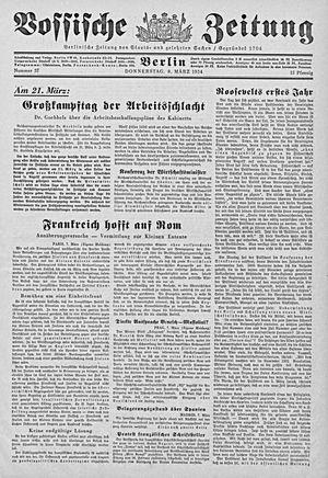 Vossische Zeitung on Mar 8, 1934